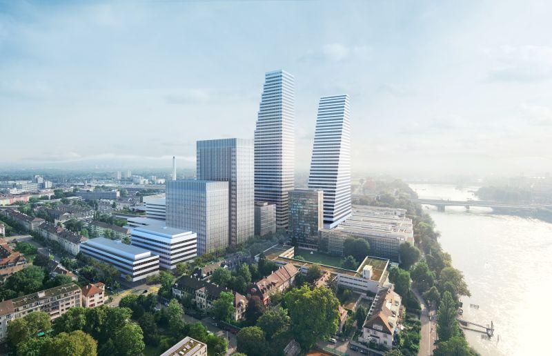 Roche Basel von Süd-Westen